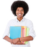 Happy afro student Stock Photography