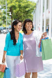 Happy aged consumers Royalty Free Stock Photos