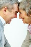 Happy aged couple Royalty Free Stock Photos