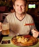 Happy aged man Stock Image