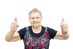 Happy aged woman Royalty Free Stock Image