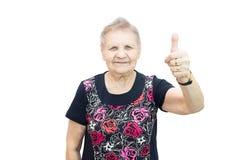 Happy aged woman Stock Photos