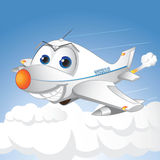 Happy airplane. Flying airplane and very happy Stock Photography