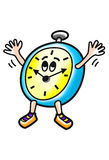 Happy alarm clock cartoon Royalty Free Stock Photo