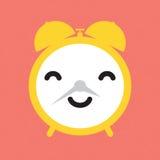 Happy alarm clock. Vector illustration Royalty Free Stock Image