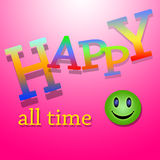Happy All time Stock Images