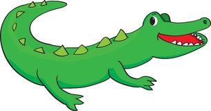 Happy alligator. Vector illustration of a happy green alligator smiling Royalty Free Stock Photo