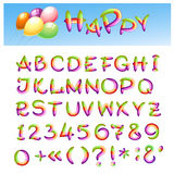 Happy Alphabet Stock Images