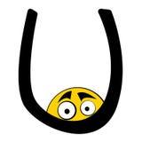 Happy Alphabet Letters - U Stock Image