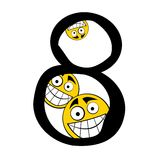 Happy alphabet  numbers - 8 eight Stock Images