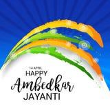 Happy Ambedkar Jayanti. Illustration of a Banner for Happy Ambedkar Jayanti Royalty Free Stock Image