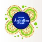 Happy Ambedkar Jayanti. Illustration of a Banner for Happy Ambedkar Jayanti Stock Photography