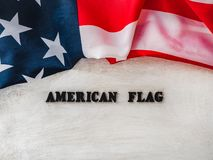 Happy American Flag day. Close-up, top view royalty free stock photo