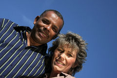 Happy American - German married couple Royalty Free Stock Photo