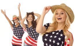 Happy American girls Stock Photography