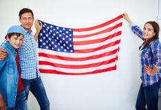 Happy Americans Royalty Free Stock Photos