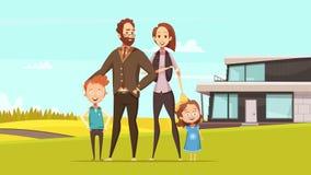 Happy Amicable Family Design Concept Stock Photos