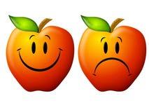 Free Happy And Sad Cartoon Apples Stock Photos - 4542363