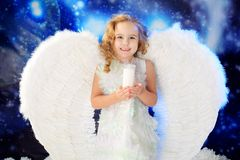 Happy angel Stock Photo