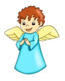 Happy angel. Digital illustration of a happy angel Royalty Free Stock Photo