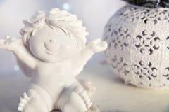 Happy Angel. Ceramic toy. Royalty Free Stock Photo