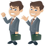 Happy and Angry Businessman Stock Image