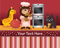 Happy animal card Stock Photo
