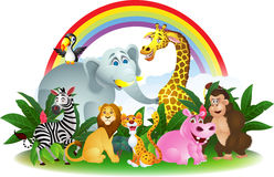 Happy animal cartoon Royalty Free Stock Images