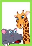 Happy animal On frame Stock Image