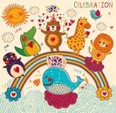 Happy animals stock illustration