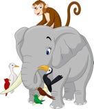Happy animals cartoon royalty free illustration