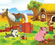 The happy animals on the farm Stock Image