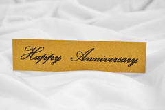 Happy Anniversary. Close up of Happy Anniversary label Royalty Free Stock Photography