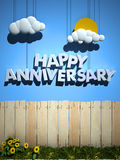 Happy Anniversary background royalty free illustration