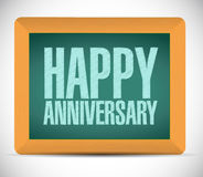 Happy anniversary board sign illustration design Royalty Free Stock Photo