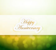 Happy Anniversary bokeh light sign Royalty Free Stock Photo