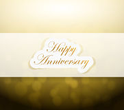 Happy Anniversary bokeh light sign Royalty Free Stock Image