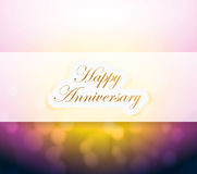 Happy Anniversary bokeh light sign Stock Photo