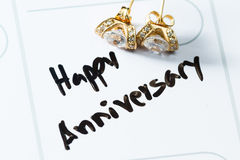 Happy anniversary on a calendar Royalty Free Stock Images