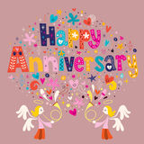 Happy Anniversary Stock Image