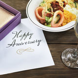 Happy Anniversary Card Congratulations Concept. Happy Anniversary Card Special Occasion Concept Royalty Free Stock Photography