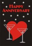 Happy Anniversary Card Royalty Free Stock Photography