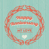 Happy Anniversary card Royalty Free Stock Photo