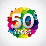 Happy anniversary design. Illustration eps10 graphic Royalty Free Stock Photos