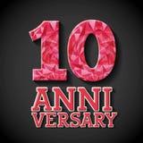 Happy anniversary design Stock Images