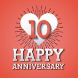 Happy anniversary design Royalty Free Stock Photography