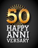 Happy anniversary design. Illustration eps10 graphic Royalty Free Stock Image