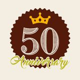 Happy anniversary design. Illustration eps10 graphic Royalty Free Stock Photo