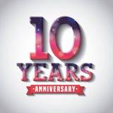 Happy anniversary design Stock Photos