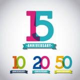 Happy anniversary design Stock Photography